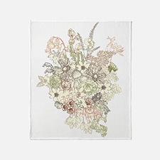 Wildflower Bouquet Throw Blanket