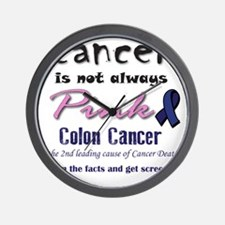Colon Cancer - Also not pink! Wall Clock