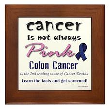 Colon Cancer - Also not pink! Framed Tile