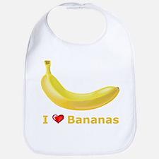 I Love Banana Bib