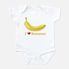 I Love Banana Infant Bodysuit