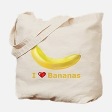 I Love Banana Tote Bag