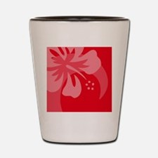 Hibiscus Red Hitch Cover Shot Glass