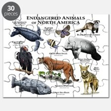 Endangered Animals of North America Puzzle