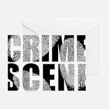 Crime Scene Finger Prints Greeting Card