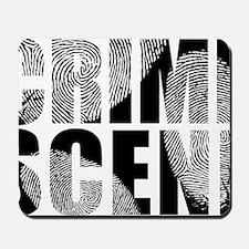 Crime Scene Finger Prints Mousepad