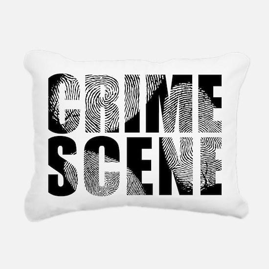 Crime Scene Finger Print Rectangular Canvas Pillow