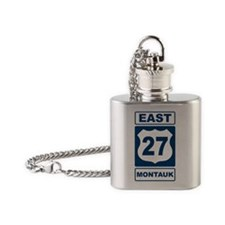 East 27 Montauk Blue Flask Necklace