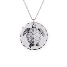 Sea Turtle drawing Necklace