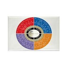 Capstone Circle Rectangle Magnet (White)
