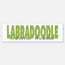 Labradoodle IT'S AN ADVENTURE Bumper Car Car Sticker