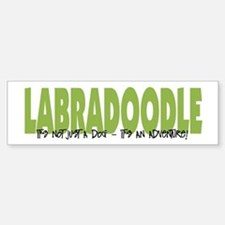 Labradoodle IT'S AN ADVENTURE Bumper Stickers