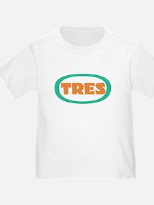 tres toddler t-shirt