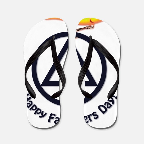AA Fathers Day Fishing Flip Flops