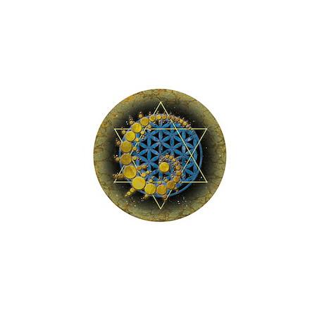 Divine Awakening mini poster print Mini Button