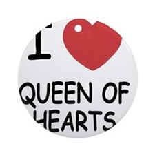 QUEEN_OF_HEARTS Round Ornament