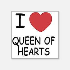 "QUEEN_OF_HEARTS Square Sticker 3"" x 3"""