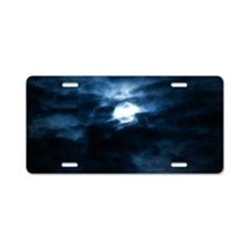 Blue moon Aluminum License Plate