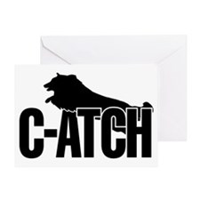 C-ATCH Sheltie Greeting Card