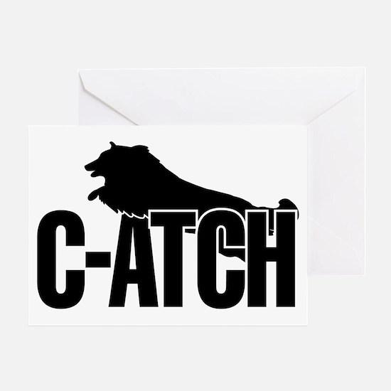 C-ATCH Sheltie Greeting Card