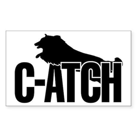 C-ATCH Sheltie Sticker (Rectangle)