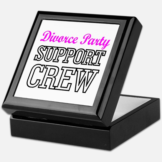 Divorce party support crew Keepsake Box