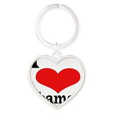 I Love ObamaI Heart Keychain