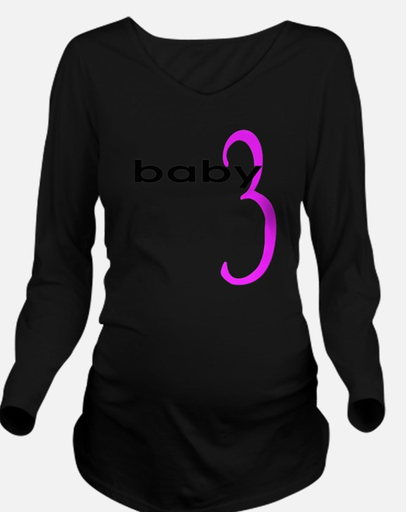 baby3 Long Sleeve Maternity T-Shirt