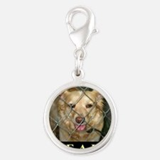 Save A Life Silver Round Charm
