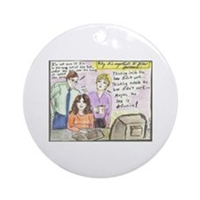 Thinking Outside the Box Ornament (Round)