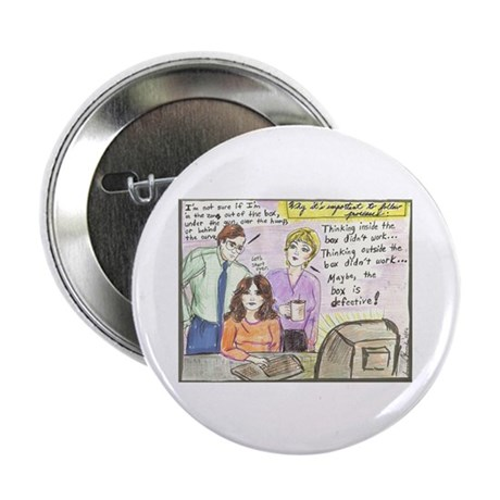 """Thinking Outside the Box 2.25"""" Button (10 pack)"""