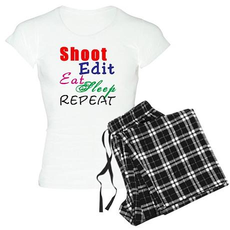 Shoot Edit Eat Sleep Repeat Women's Light Pajamas