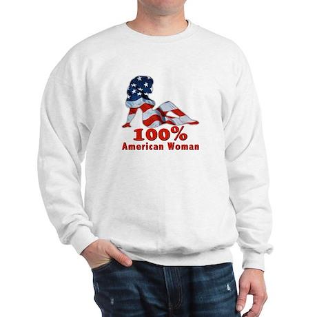 100% American Woman Sweatshirt