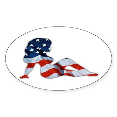 American Woman Oval Sticker