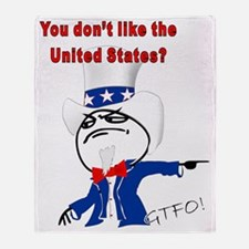 You Dont Like The U.S.? Throw Blanket