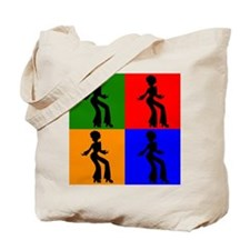 Disco Woman Pop Art Tote Bag