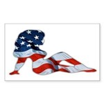 American Woman Rectangle Sticker