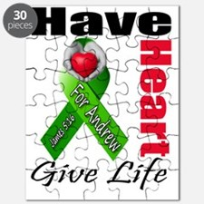 Have A Heart For Andrew...Give Life Puzzle