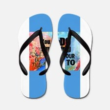 YOU CAN DO ANYTHING Flip Flops