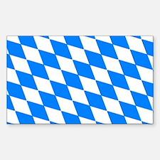 Bavaria Flag Rectangle Decal