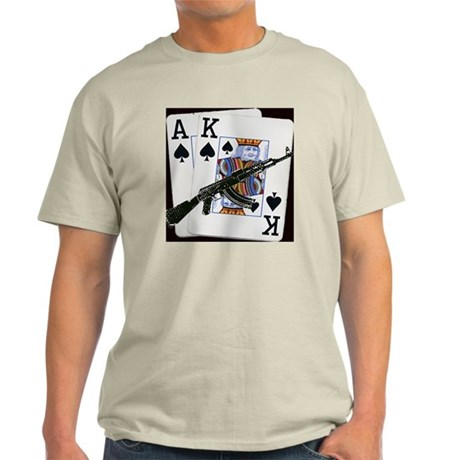 Ace King Spades with AK 47 Light T-Shirt