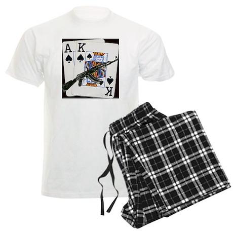 Ace King Spades with AK 47 Men's Light Pajamas