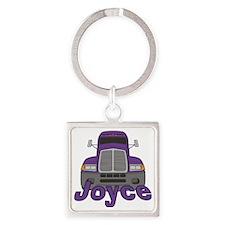 joyce-g-trucker Square Keychain