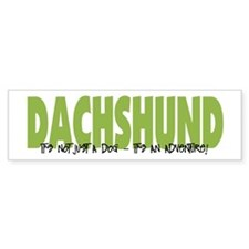 Dachshund ADVENTURE Bumper Bumper Sticker