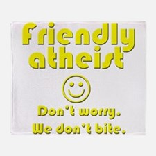 friendly-atheist-nobite-dark.png Throw Blanket