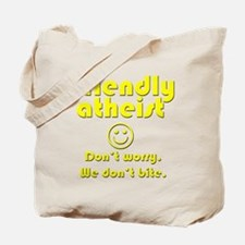 friendly-atheist-nobite-dark.png Tote Bag