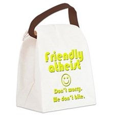 friendly-atheist-nobite-dark.png Canvas Lunch Bag