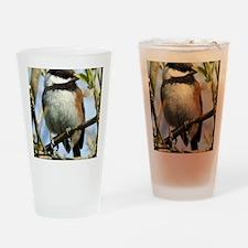 Black-Capped Chickadee Drinking Glass