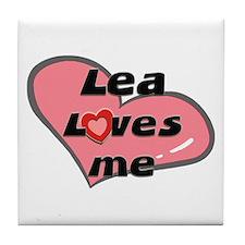 lea loves me  Tile Coaster