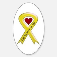 Keep My Son-in-law Safe Ribbon Oval Decal